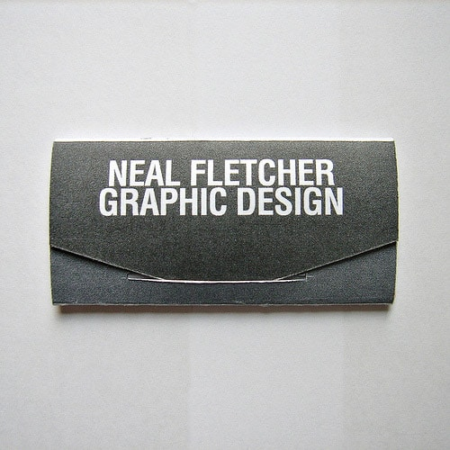 Neal Fletcher, Graphic Design Business Card