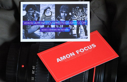 Amon Focus Photography Business Card