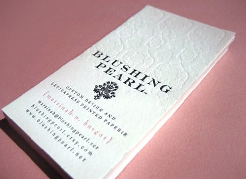 Pearl White Card By Blushing Pearl