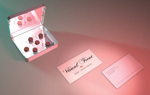 visual treat business card