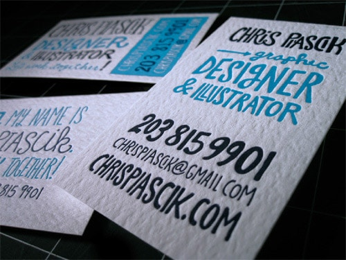 Business Card for: Chris Piascik