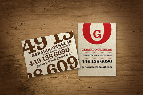 Gerardo Ornelas business cards