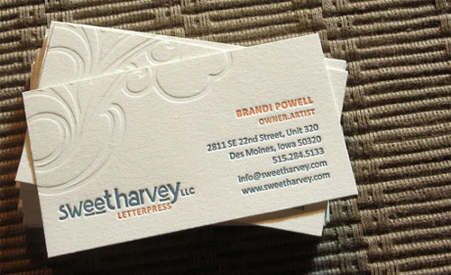 Collection of well designed business cards designrfix three color letterpress by brandi powell colourmoves