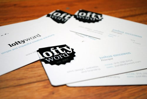 Lofty Word Business Card