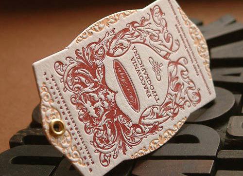Letterpress Lettra Card By Lettera Magica
