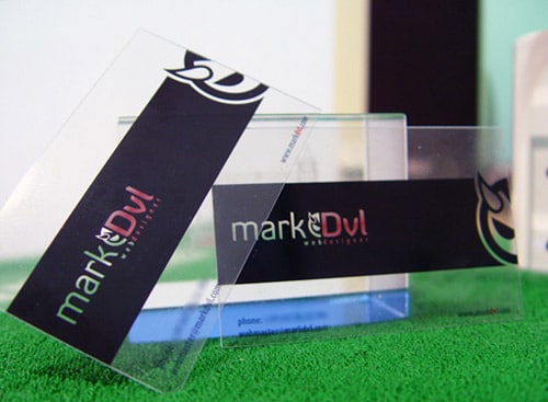 Clear Business Card By Markdvl