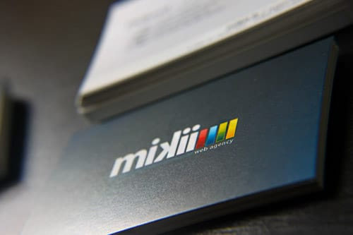 Web agency mikii.fr - Business Cards