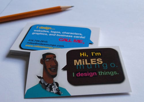 Original Business Card By Miles Mungo