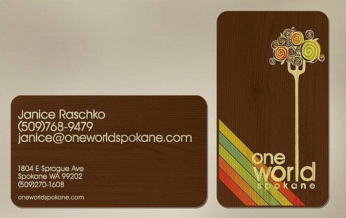 OWS business cards