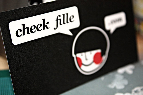 Cheek Fille business cards