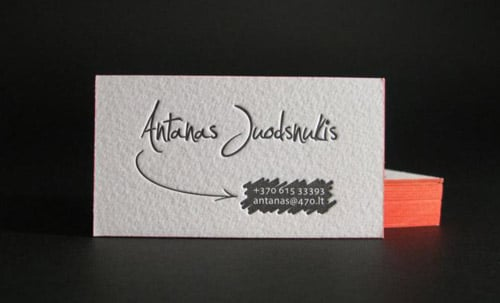 Business cards with painted edge by ELEGANTE PRESS