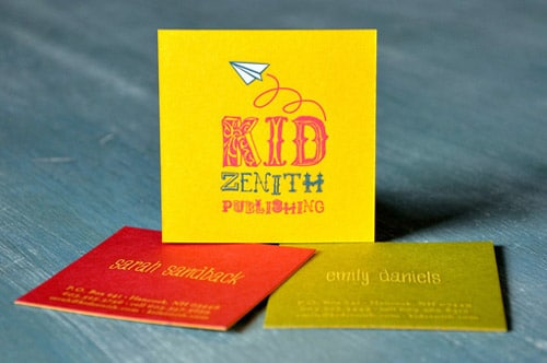 Kid Zenith Cards By Two Paper Dolls