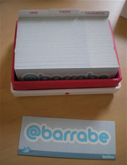 Twitter Business Card By Patrick Barrabe