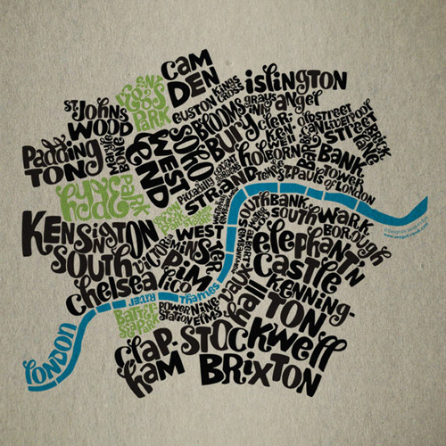 Typographic map of London