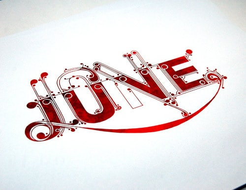 Love.type. From:  SHCH graphics group
