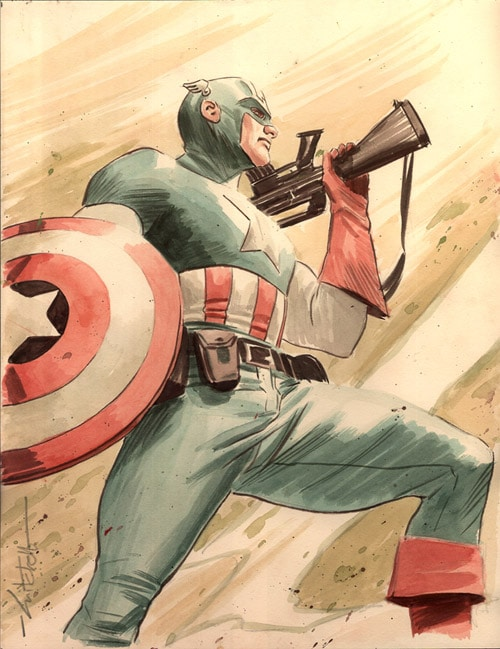Painted Captain America by mbreitweiser