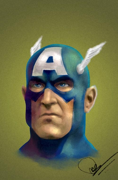 Captain America by nirman