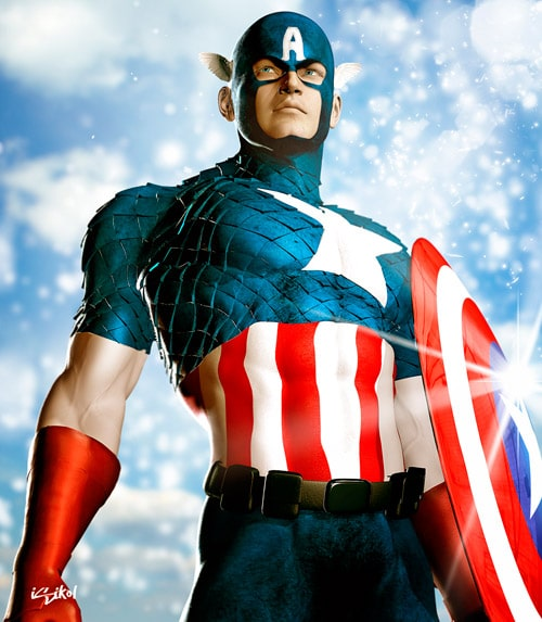 Captain America ICONIC II by isikol