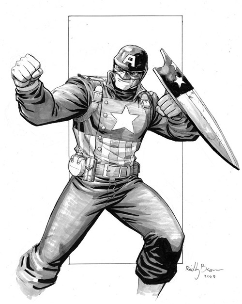WWII Ultimate Captain America by ReillyBrown