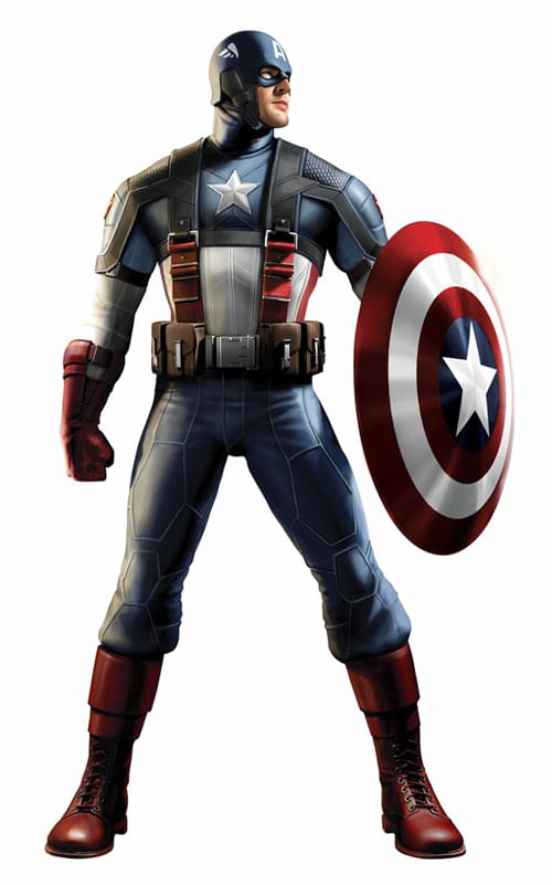 Captain America costume edits by jayodjick