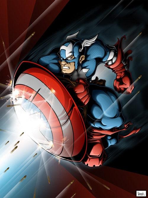 Captain America by pnutink