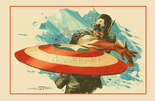 Captain America Print revised by mbreitweiser