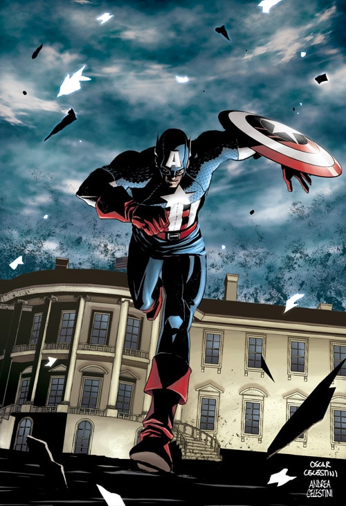 Captain America White house by ANDREA11179