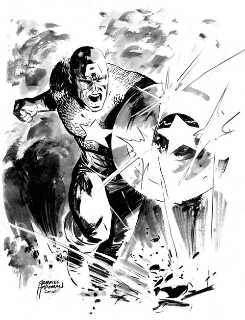 Captain America Sketch by heathencomics