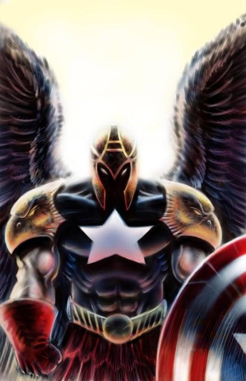 Captain America Angel by JMan-3H