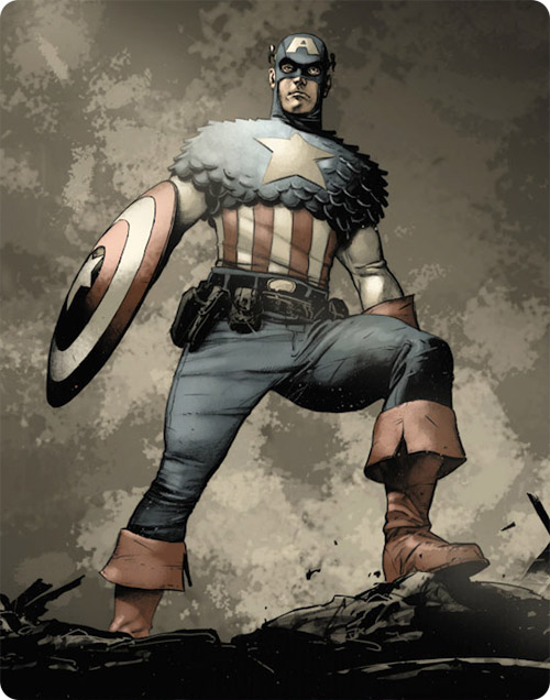 Captain America Interior art by mbreitweiser