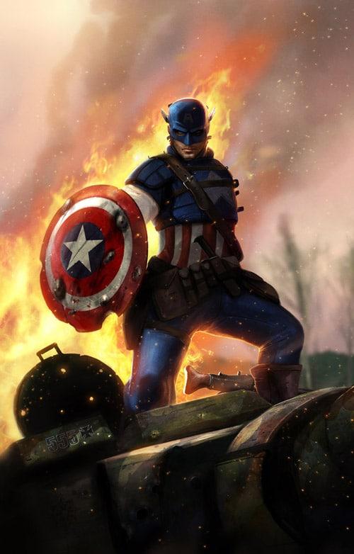 Captain America - by adonihs