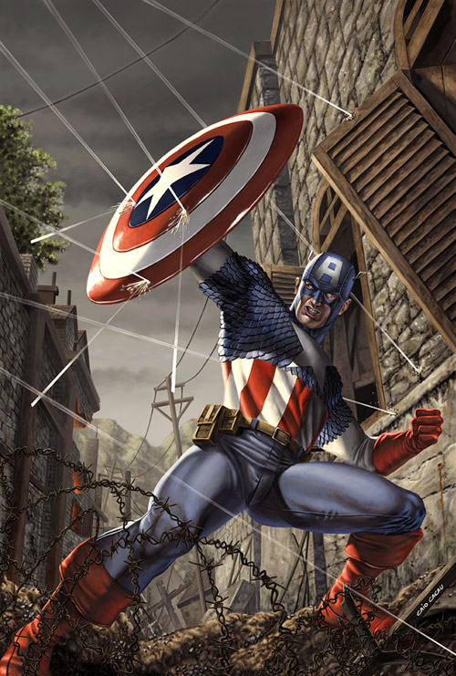Captain America Sample Cover by caiocacau