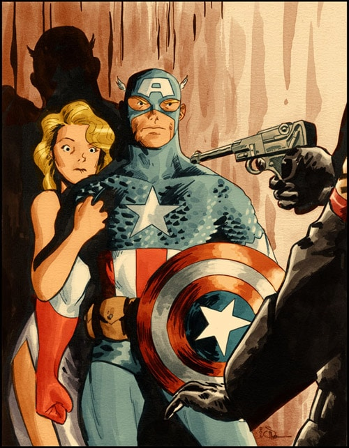 Captain America Cover by DocShaner