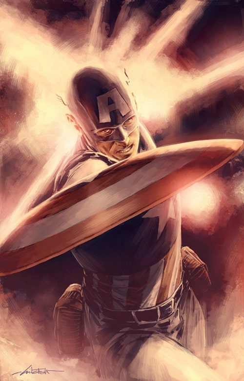 Captain America by mbreitweiser