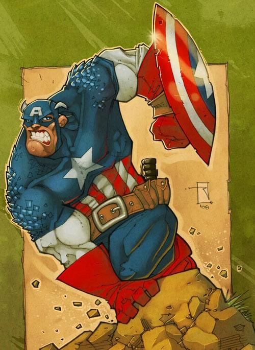 Captain America by RoloMallada