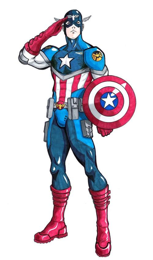 Captain America Revamped by turin-the-forsaken