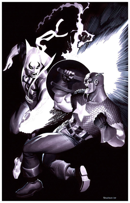 Captain America VS Iron Fist by chriss2d
