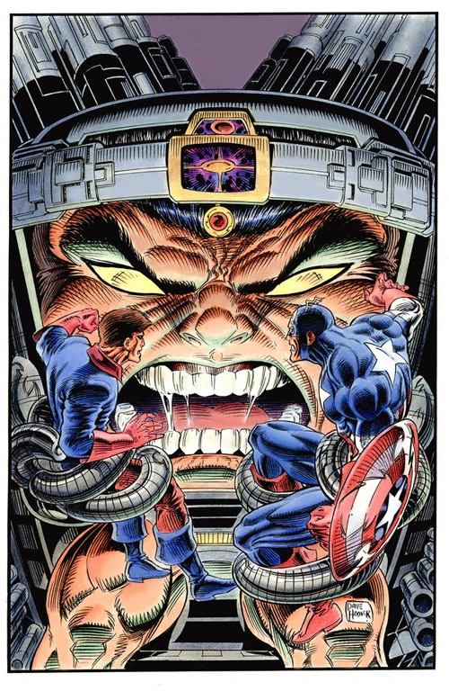 Captain America Vs Modam by Tarzman