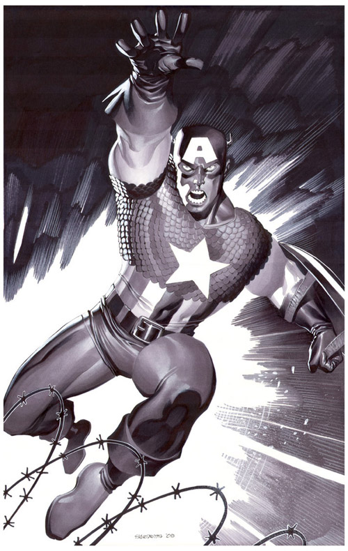 Captain America- Marker Illo by chriss2d