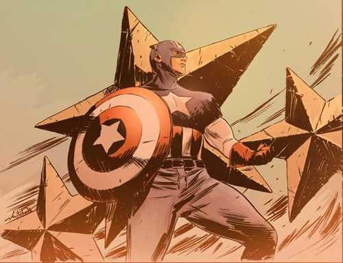Colored Captain America by mbreitweiser