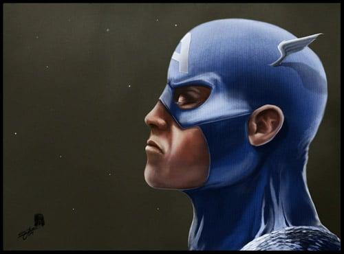 Captain America by wildlifehoodoo