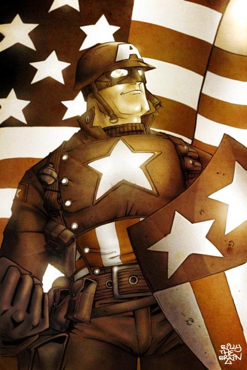 Captain America by billythebrain
