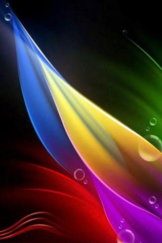 Color Petals iPhone Wallpaper