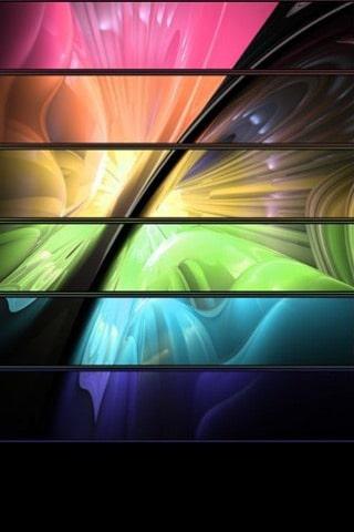 Neon Wingz iPhone Wallpaper