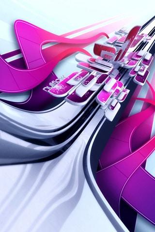 Null Flow iPhone Wallpaper
