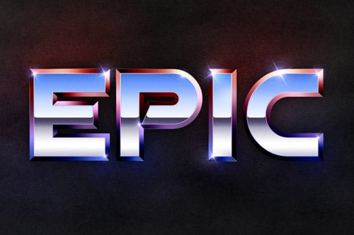 Recreate the Epic 80?s Metal Text Effect in Photoshop
