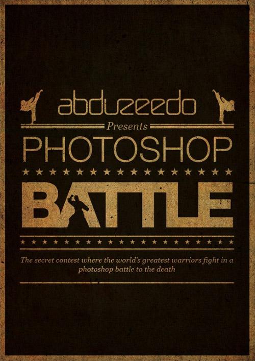 Photoshop Battle Poster in Illustrator