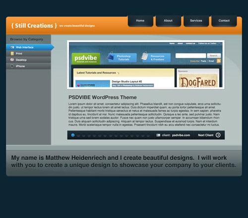 Design a Modern Portfolio Web Layout in Photoshop