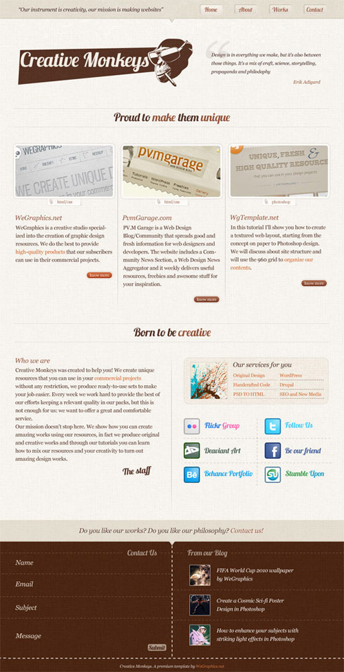 how to create css web design