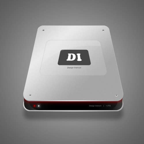 How to Make a Sleek Aluminium Hard Drive in Photoshop